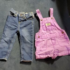 Overalls and jeans